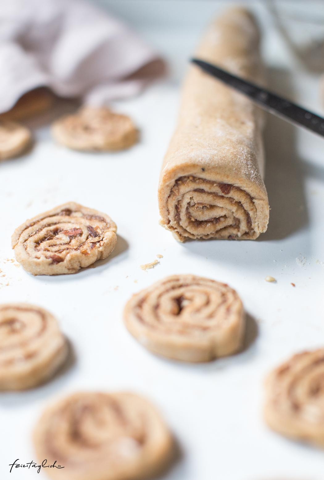 Zimtschnecken-Cookies (ohne raffinierten Zucker) - Rezepte für gesündere Weihnachtsbäckerei