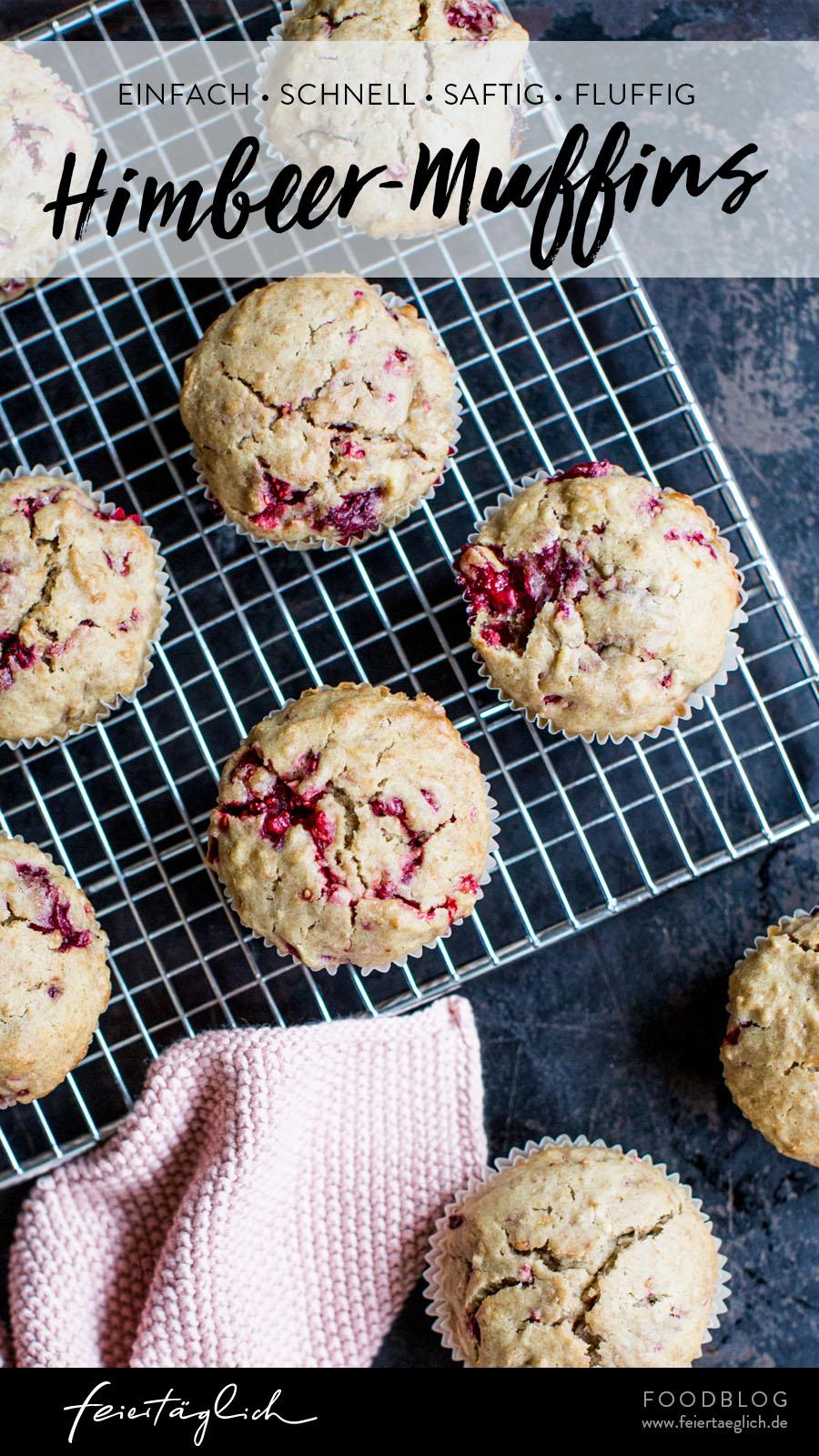 Himbeer-Muffins zum Tag Versüßen, ein einfaches Rezept, schnell, saftig, fluffig, ohne Zucker