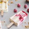 Cheesecake-Popsicles mit Maracuja und Himbeere, unglaublich leckeres Eis am Stiel selbst gemacht