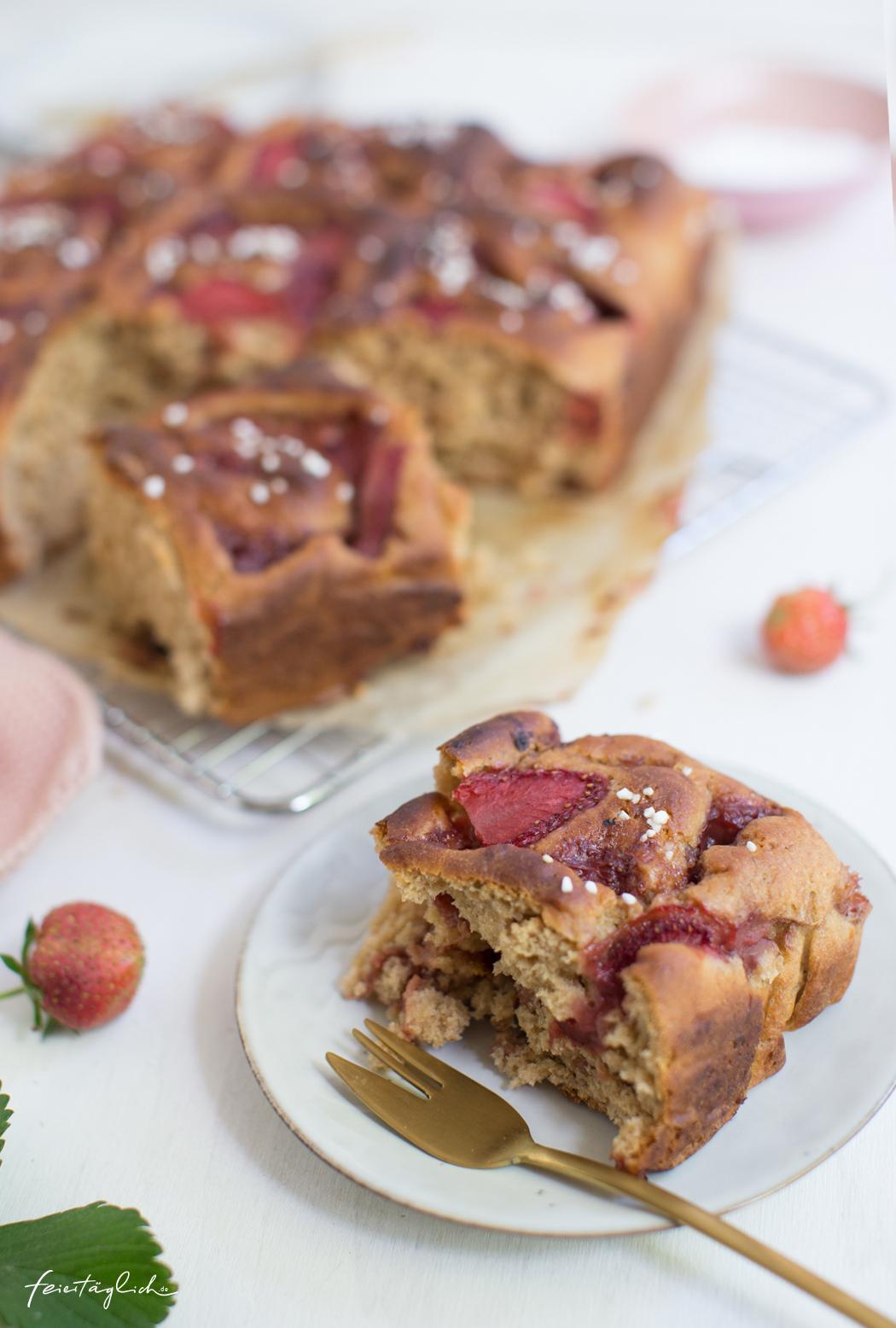 Erdbeer-Hefe-Schnecken, Rezept