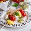Tomaten-Mango-Mozzarella-Spieße mit Cashew-Minz-Pesto, Rezept
