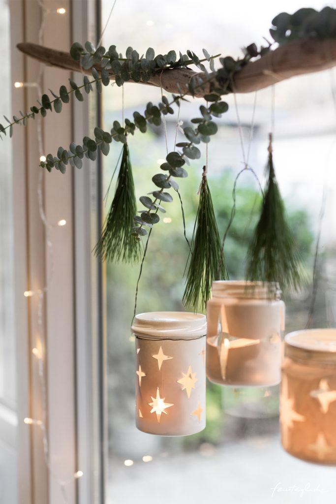 DIY: Hängende Weihnachts-Windlichter aus alten Schraubgläsern – Upcycle your Christmas.