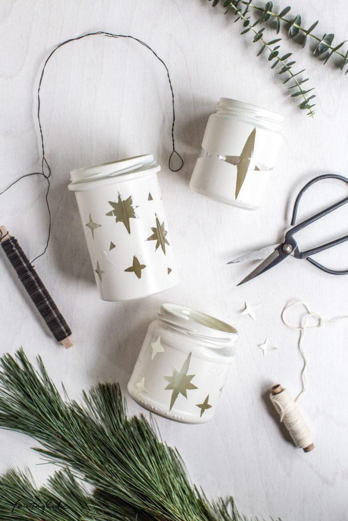 DIY: Hängende Weihnachts-Windlichter aus alten Schraubgläsern – Upcycle your Christmas