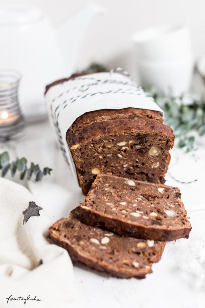 Weihnachtliches Apfelbrot – ein Klassiker (gesund und zuckerfrei), Rezept