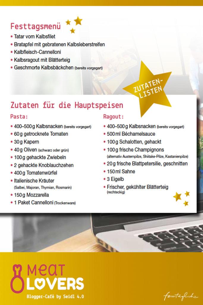 """Blogger-Café by Seidl 4.0 Edition """"MeatLovers"""" Kochen mit Kalbfleisch"""
