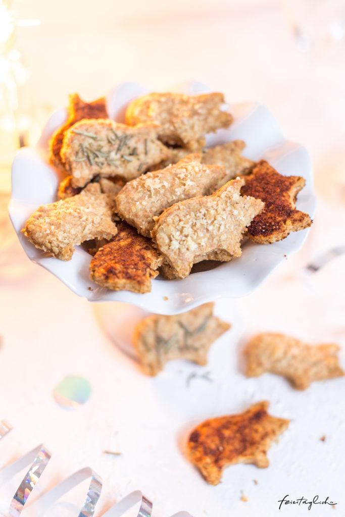 Glücks-Schweinchen-Parmesan-Kekse, ein Rezept zu Silvester