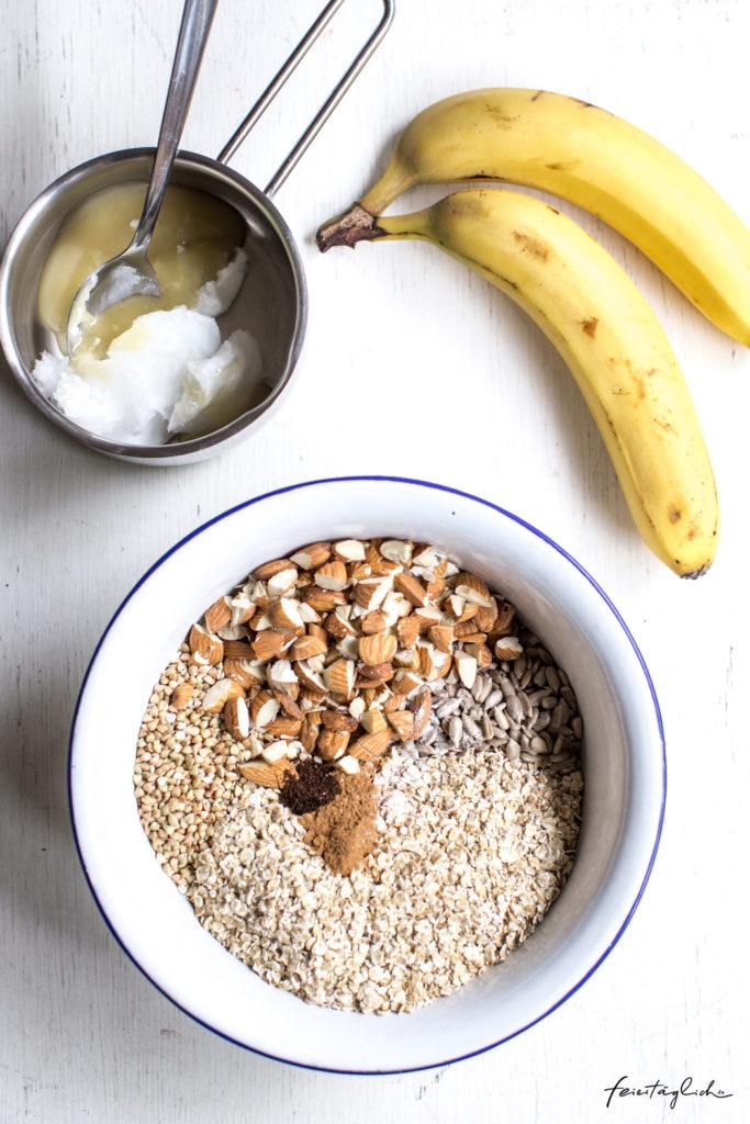 Banana-Bread-Granola - Rezept für das ultimative Knuspermüsli für die ganze Familie