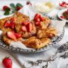Dänisches Plundergebäck mit Erdbeeren und Vanillecreme, Rezept mit genauer Anleitung