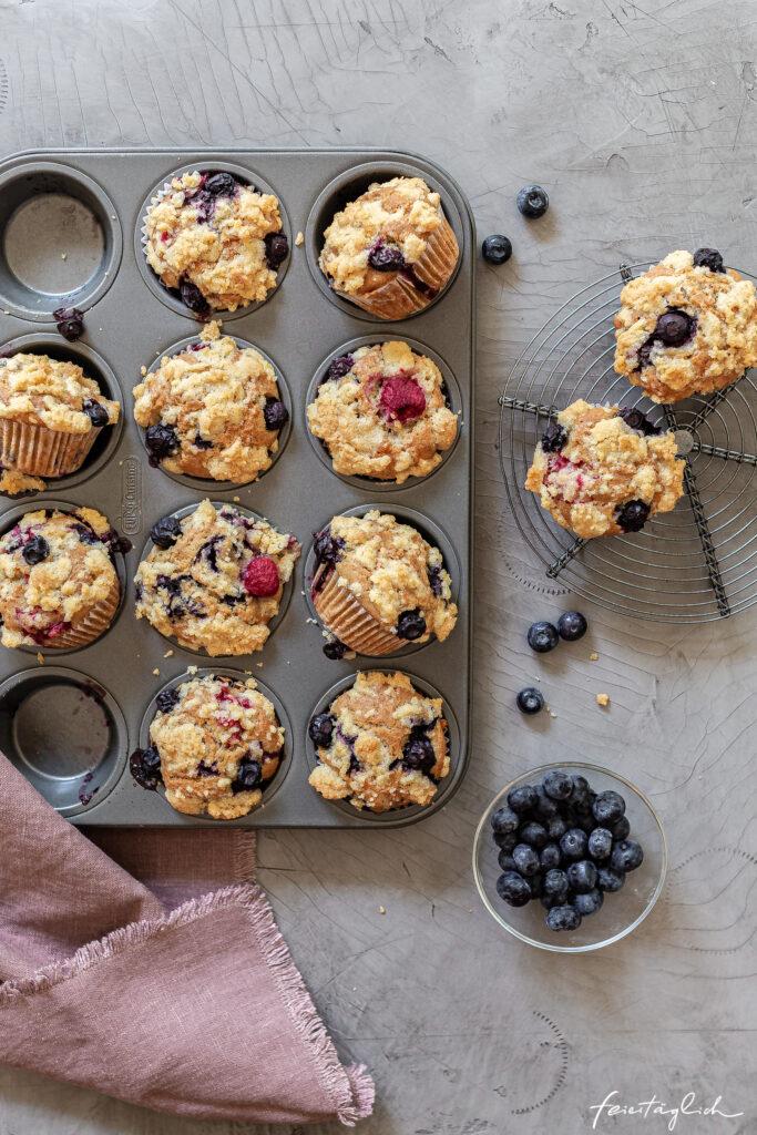 Kinderleichte Beeren-Streusel-Muffins, so saftig und lecker