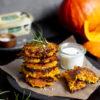 Kürbis-Fritters mit KERRYGOLD, Kürbis Puffer, Wohlfühlessen im Herbst