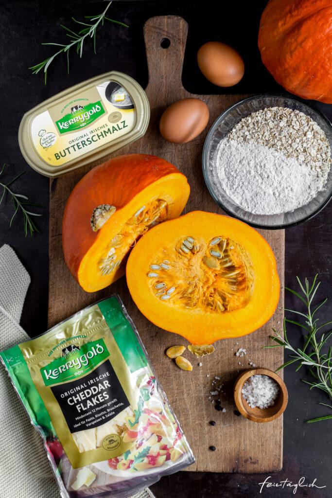 Kürbis-Fritters mit KERRYGOLD Zutaten, Kürbis Puffer, Wohlfühlessen im Herbst