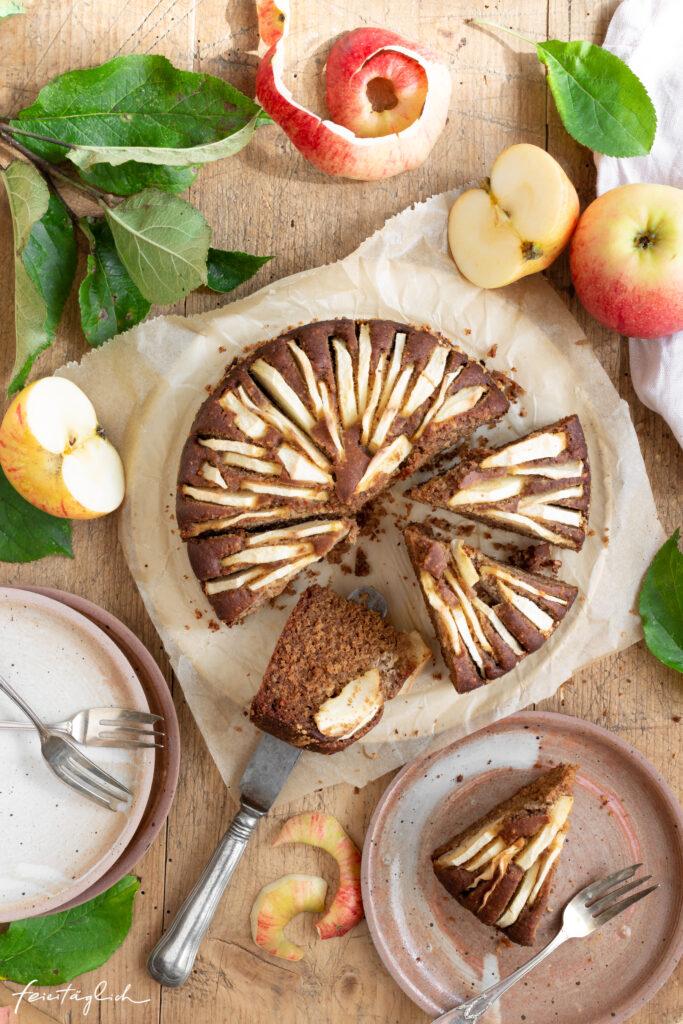 Schneller Apfelkuchen mit Buchweizen (gesünder – glutenfrei und natürlich gesüßt)